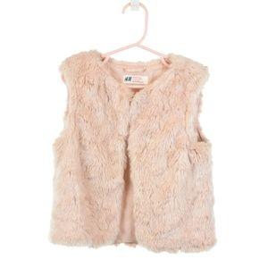 H&M Light Pink Faux Fur Vest